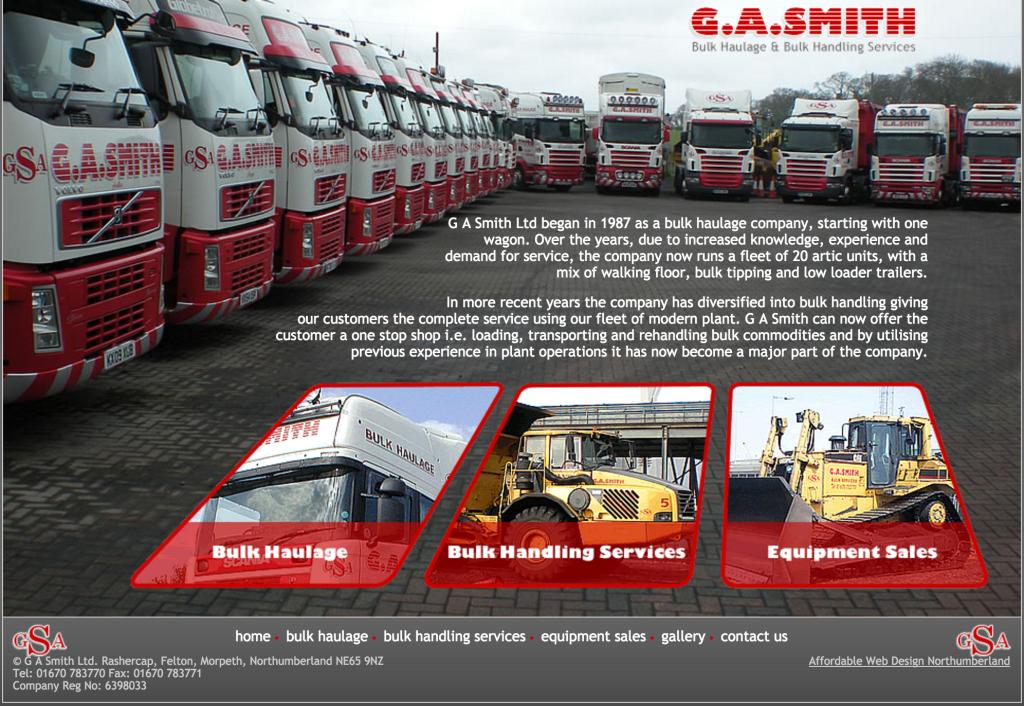 Bulk Haulage Bulk Handling Services. G A Smith